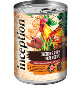 INCEPTION INCEPTION DOG CHICKEN & PORK RECIPE 13OZ