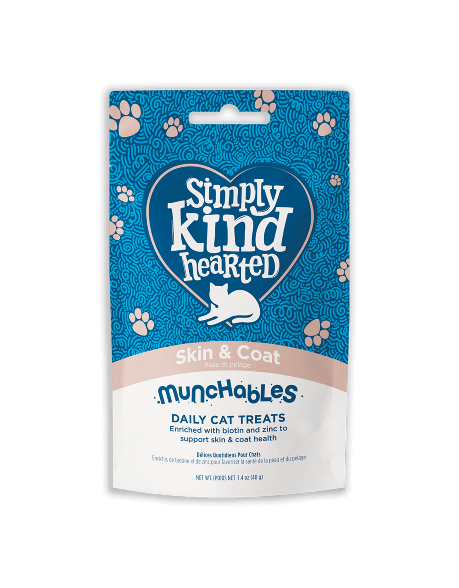 Simply Kind Hearted SIMPLY KIND HEARTED CAT MUNCHABLES SKIN & COAT TREAT 1.4OZ