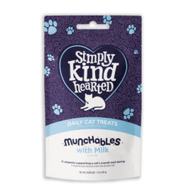 Simply Kind Hearted SIMPLY KIND HEARTED CAT MUNCHABLES MILK TREAT 1.4OZ