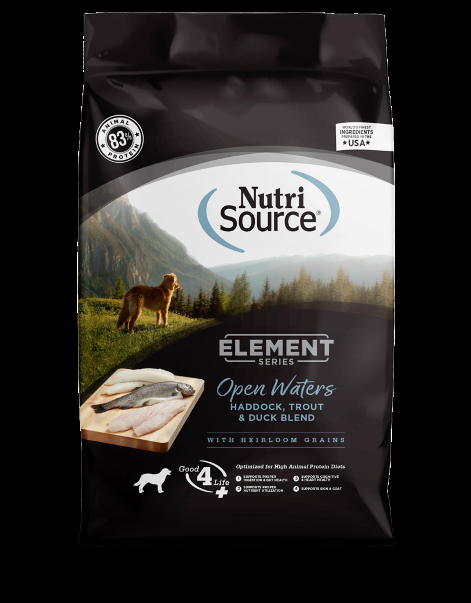 NutriSource Pet Foods NUTRISOURCE ELEMENT SERIES OPEN WATER BLEND