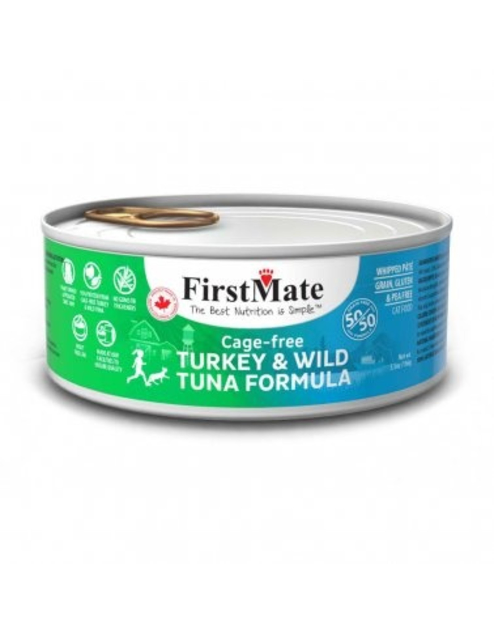 FirstMate FIRSTMATE CAT 50/50 TURKEY TUNA 5.5OZ
