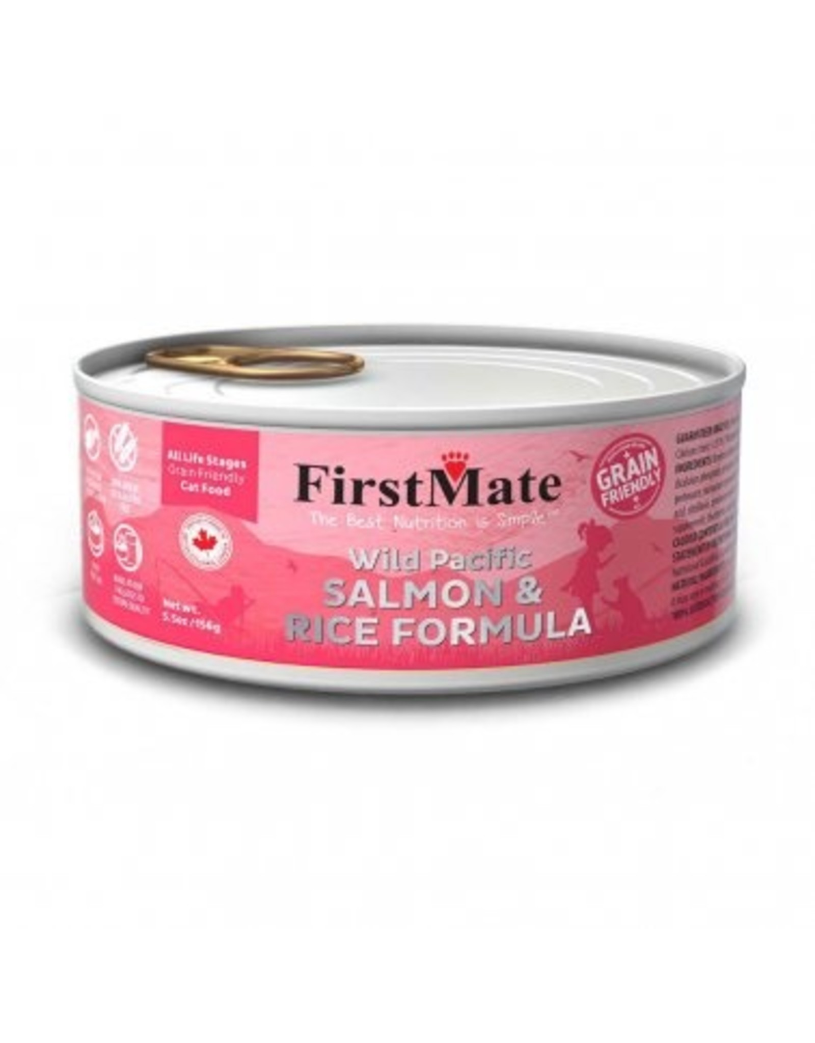 FirstMate FIRSTMATE CAT SALMON RICE 5.5OZ