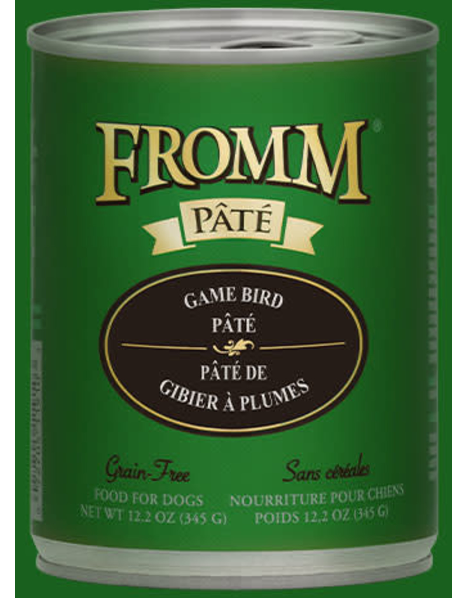 Fromm Family Pet Food FROMM DOG PATE GAMEBIRD 12.2 OZ