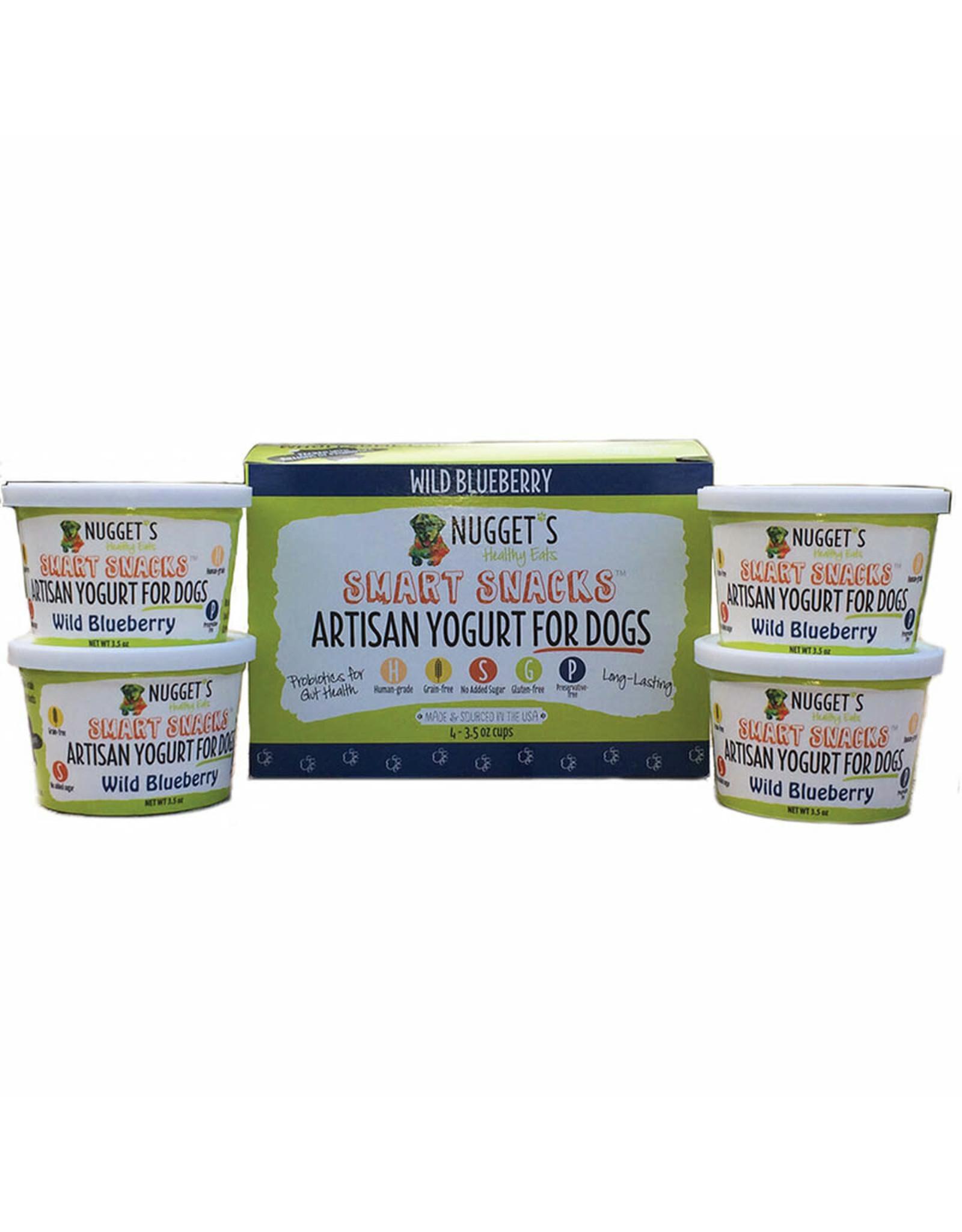 NUGGET'S HEALTHY EATS NUGGETS DOG/ CAT FROZEN SMART SNACK YOGURT WILD BLUEBERRY 3.5OZ CASE