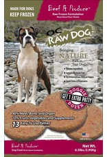 OC Raw Dog OC RAW DOG FROZEN RAW PATTIES BEEF & PRODUCE