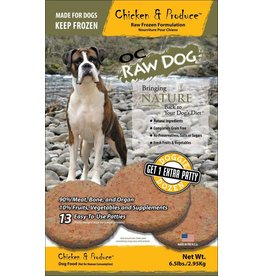 OC Raw Dog OC RAW DOG FROZEN RAW PATTIES CHICKEN & PRODUCE