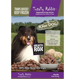 OC Raw Dog OC RAW CAT FROZEN RAW MEATY ROX TOTALLY RABBIT 2LB