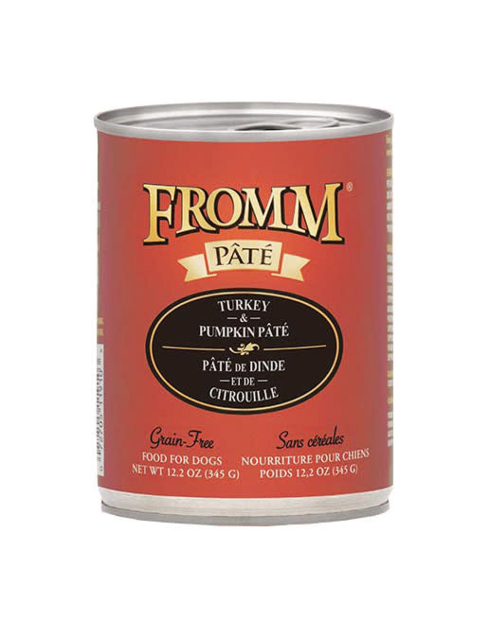 Fromm Family Pet Food FROMM DOG TURKEY  PUMPKIN PÂTÉ 12.2OZ