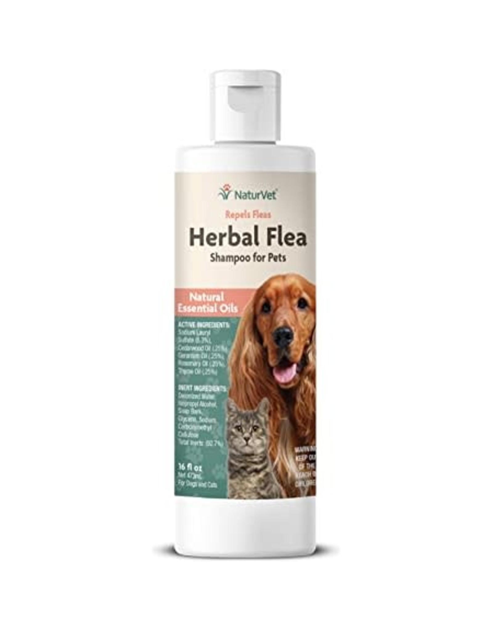 NaturVet NATURVET DOG/ CAT HERBAL FLEA WITH ESSENTIAL OILS SHAMPOO 16OZ