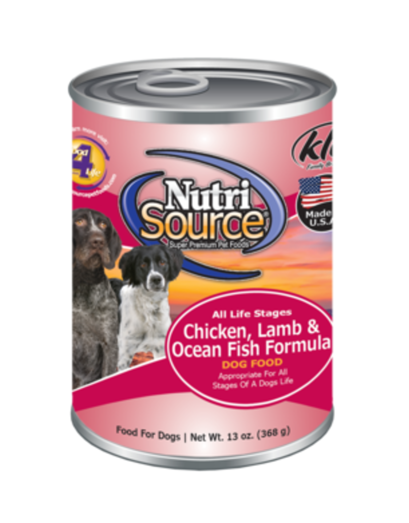 NutriSource Pet Foods NUTRISOURCE DOG CHICKEN LAMB & OCEANFISH 12OZ