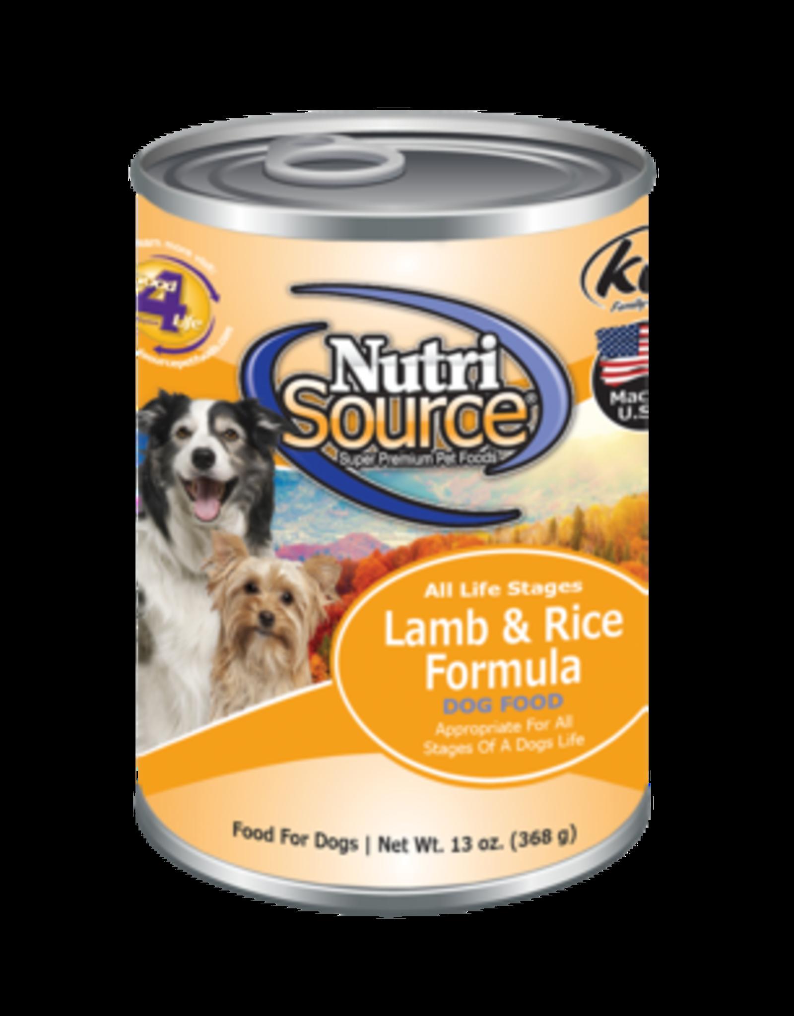 NutriSource Pet Foods NUTRISOURCE DOG LAMB & RICE 13OZ