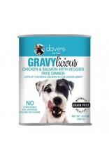 Dave's Pet Food DAVE'S DOG GF GRAVYLICIOUS CHICKEN & SALMON VEGGIES PATE DINNER 12OZ