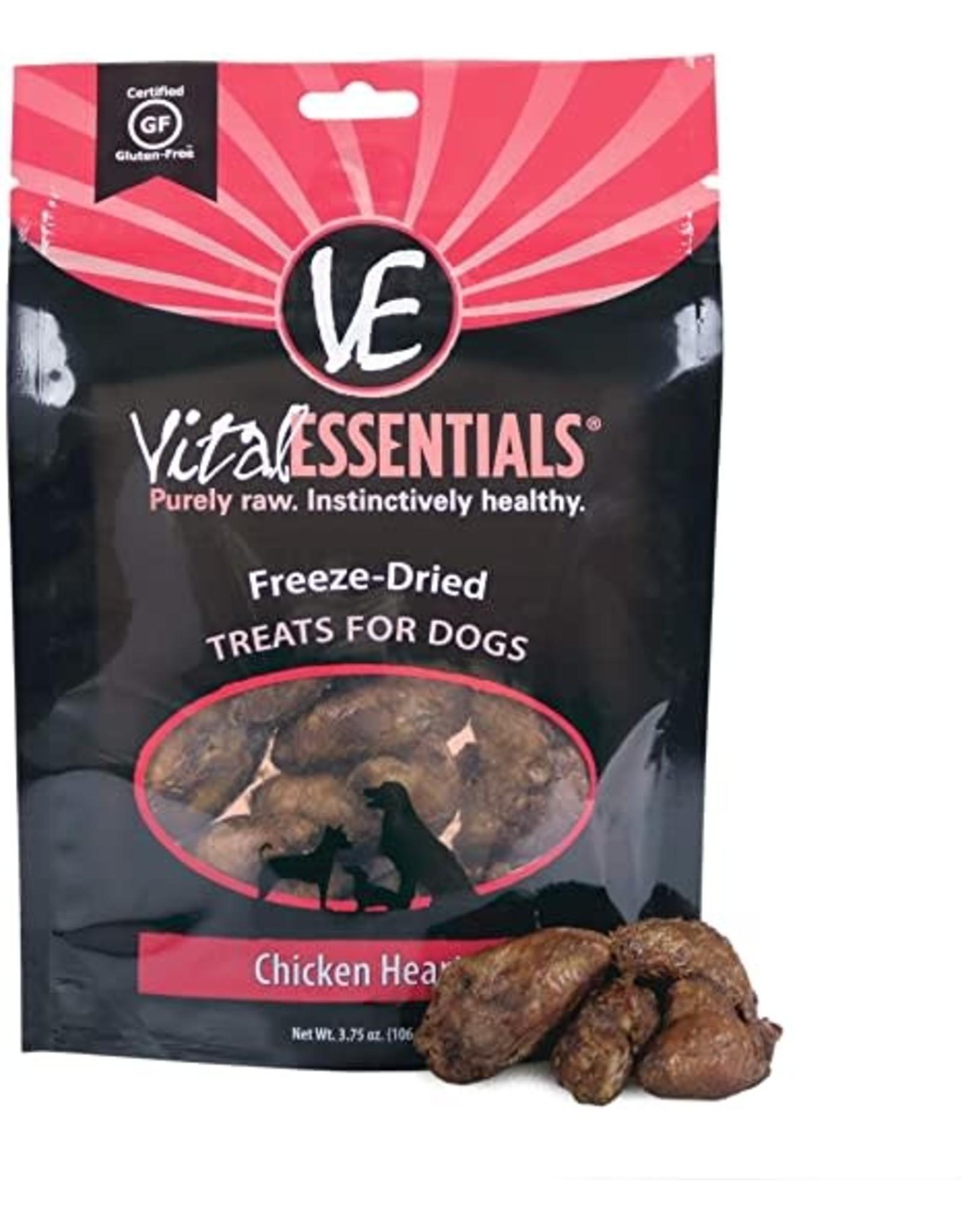 Vital Essentials VITAL ESSENTIALS FREEZE DRIED CHICKEN HEART TREATS FOR DOGS 2OZ