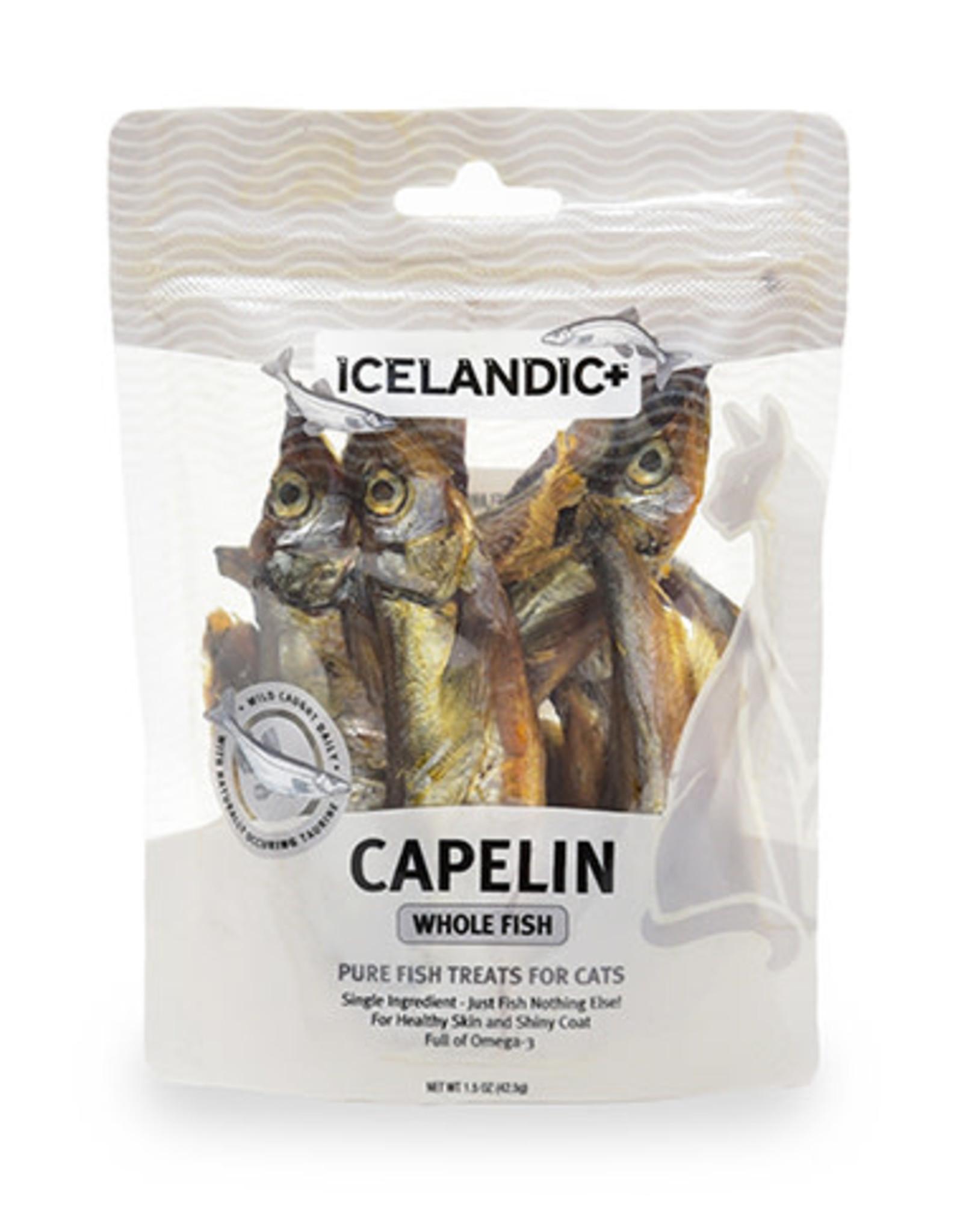 Icelandic+ ICELANDIC CAT CAPELIN WHOLE FISH TREAT 1.5OZ