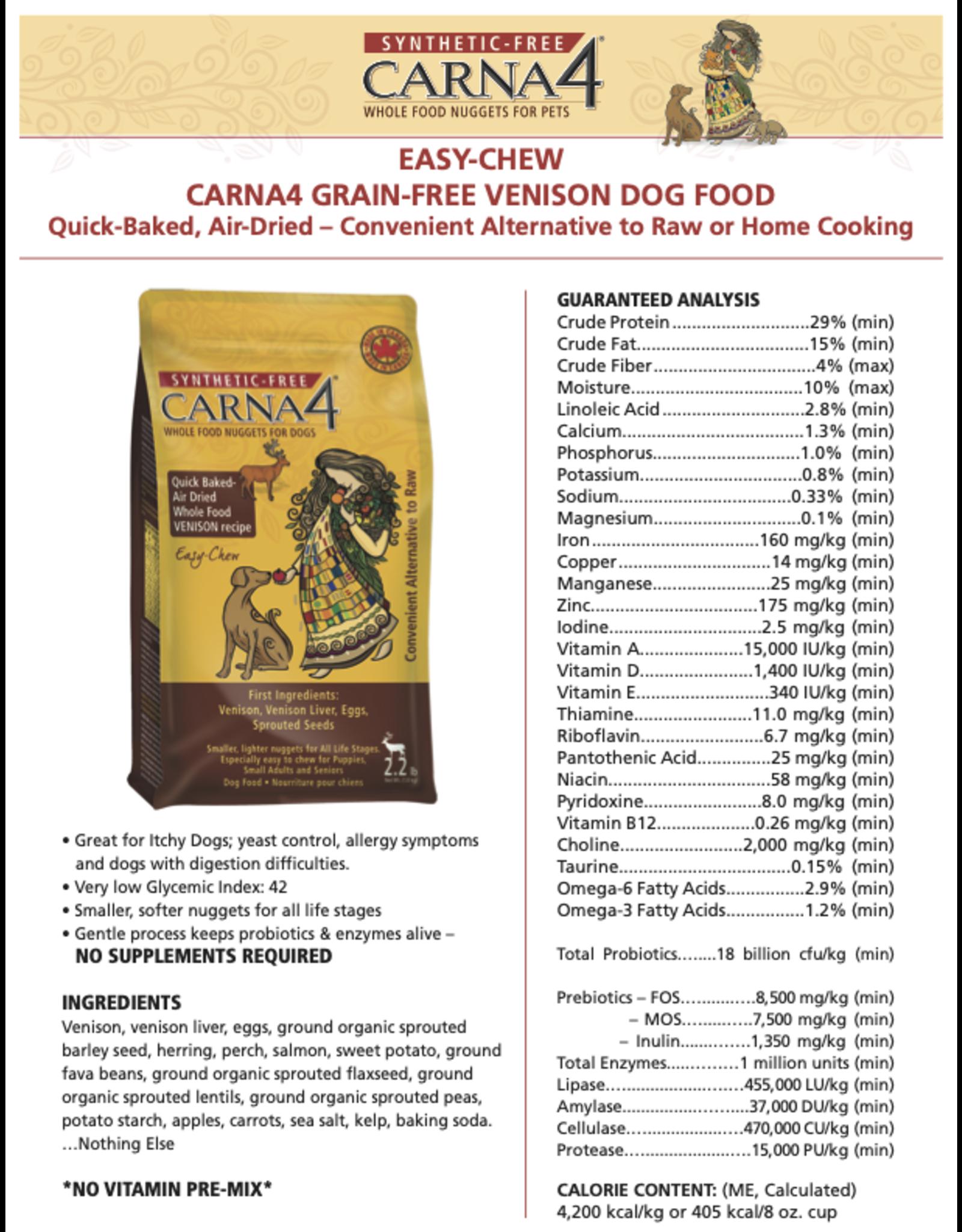 CARNA CARNA4 DOG AIR DRIED EASY-CHEW VENISON