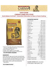 CARNA CARNA4 DOG AIR DRIED EASY-CHEW LAMB