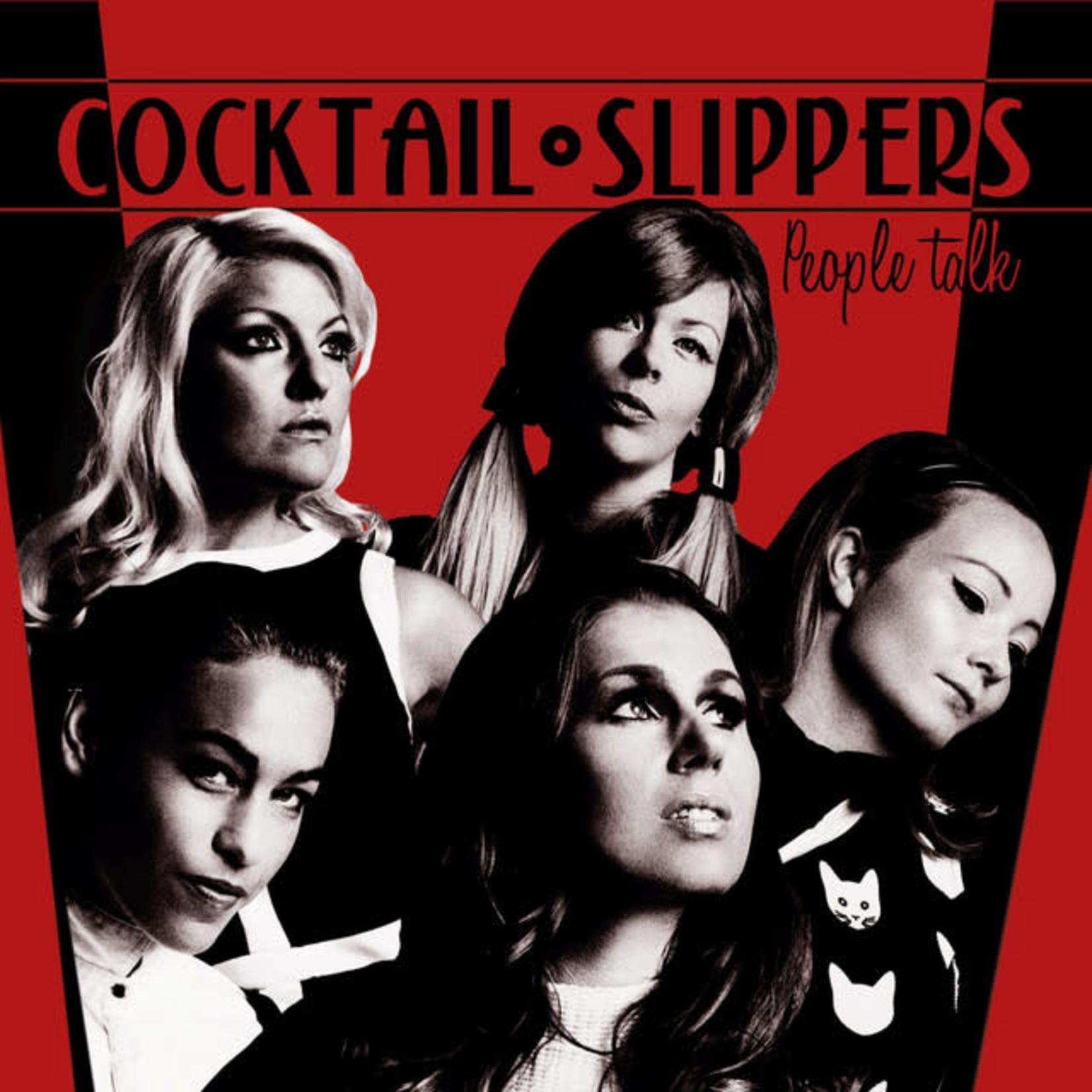 Vinyl Cocktail Slippers - People Talk