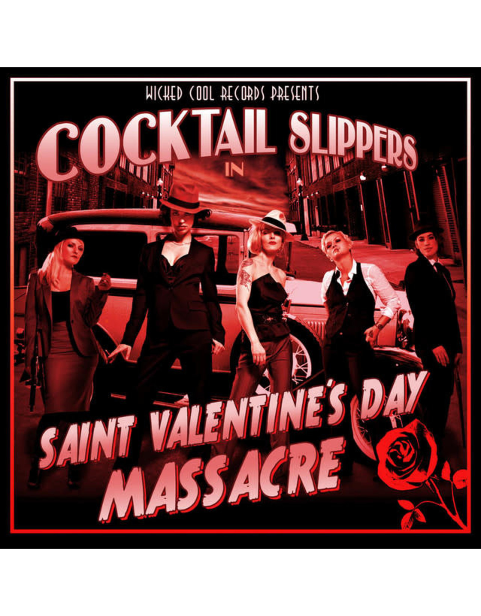 Vinyl Cocktail Slippers - Saint Valentine's Day Massacre