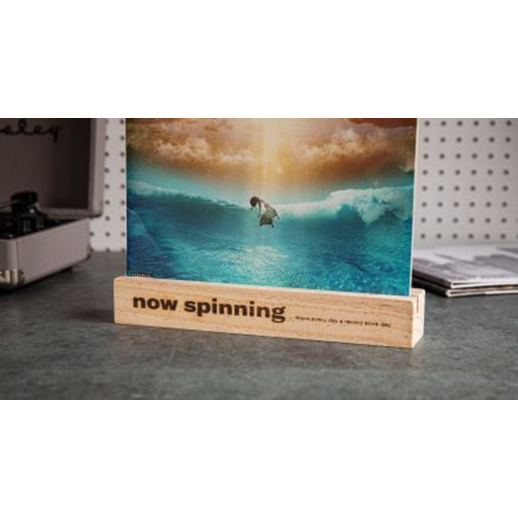 Accessory Record Holder (now spinning) - Natural