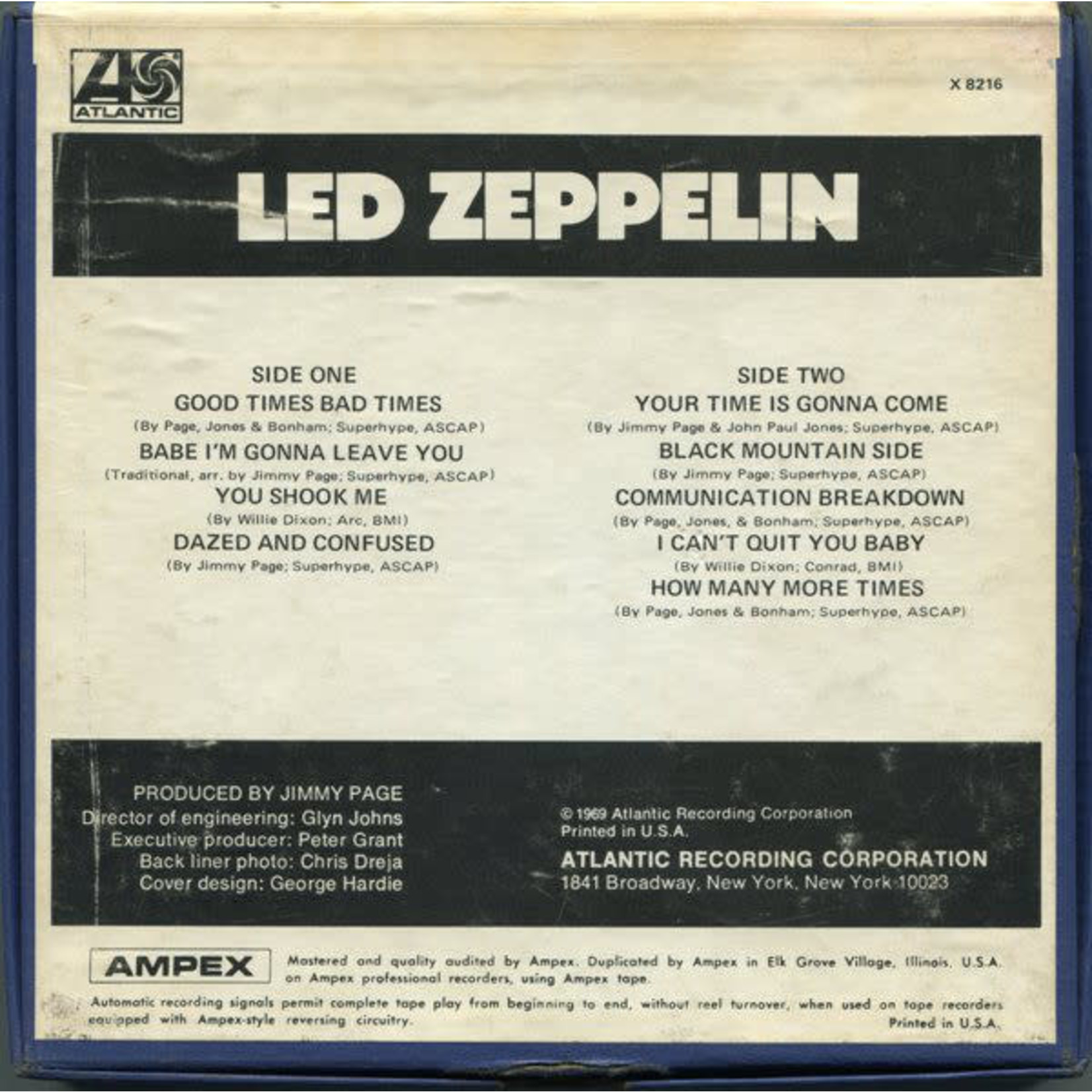 Accessory Led Zeppelin - I, II, III   [Reel to Reel Collection]
