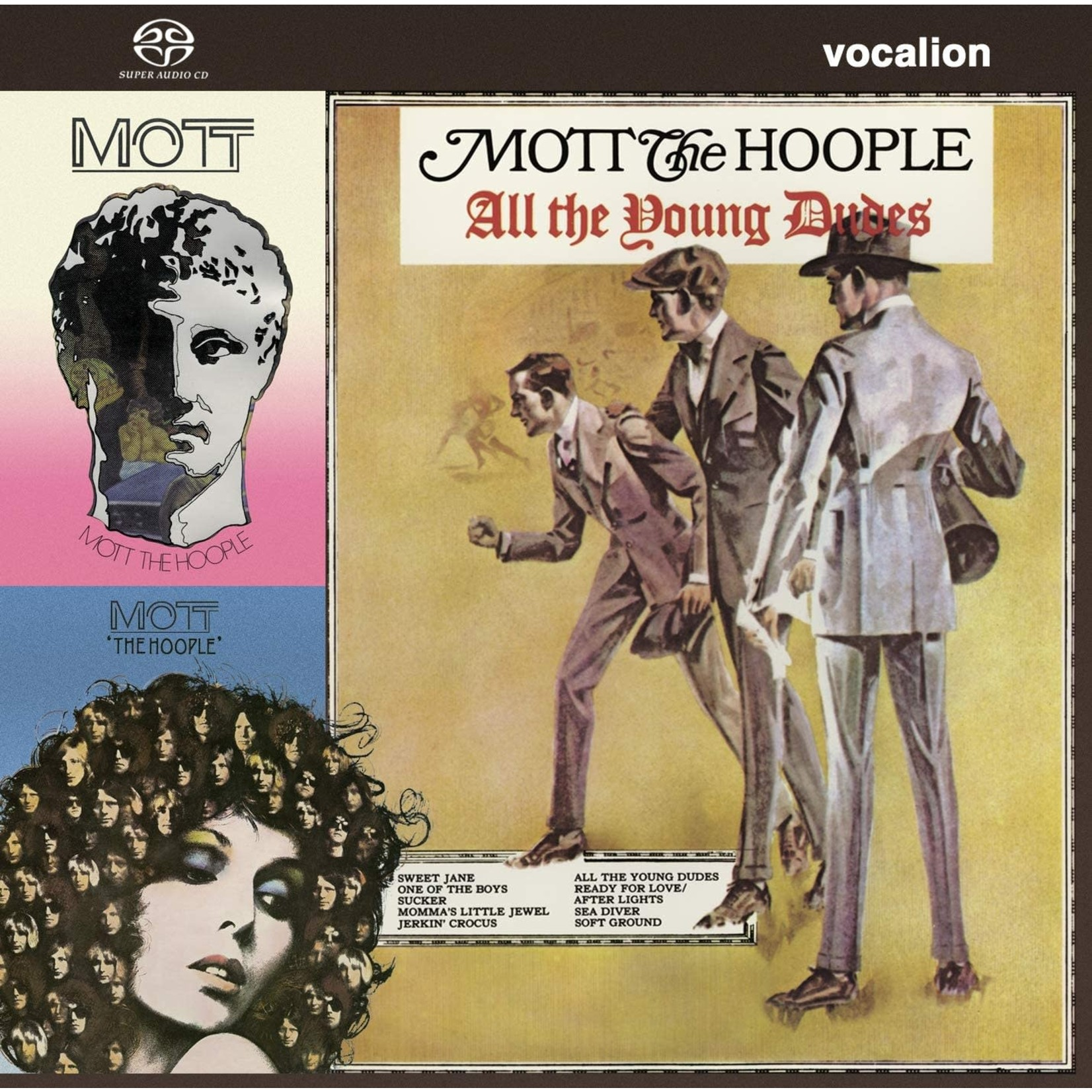 Compact Disc Mott the Hoople – The Hoople, All the Young Dudes & Mott [SACD Hybrid Multi-Channel/Stereo]