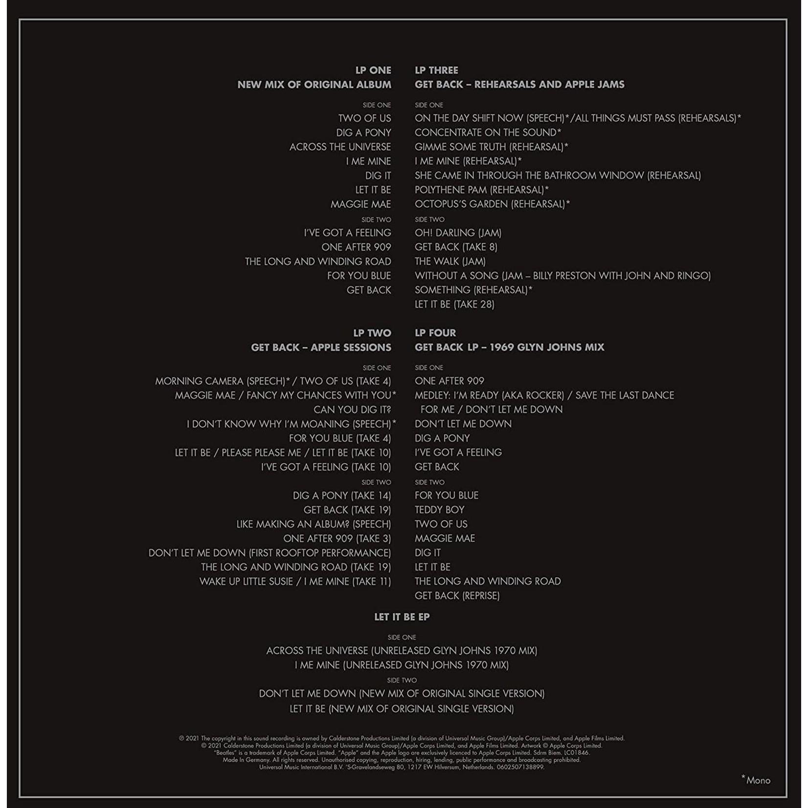 "Vinyl The Beatles -  Let It Be Special Edition (Super Deluxe Vinyl) [4LP + 12"" EP].  Pre-Order"