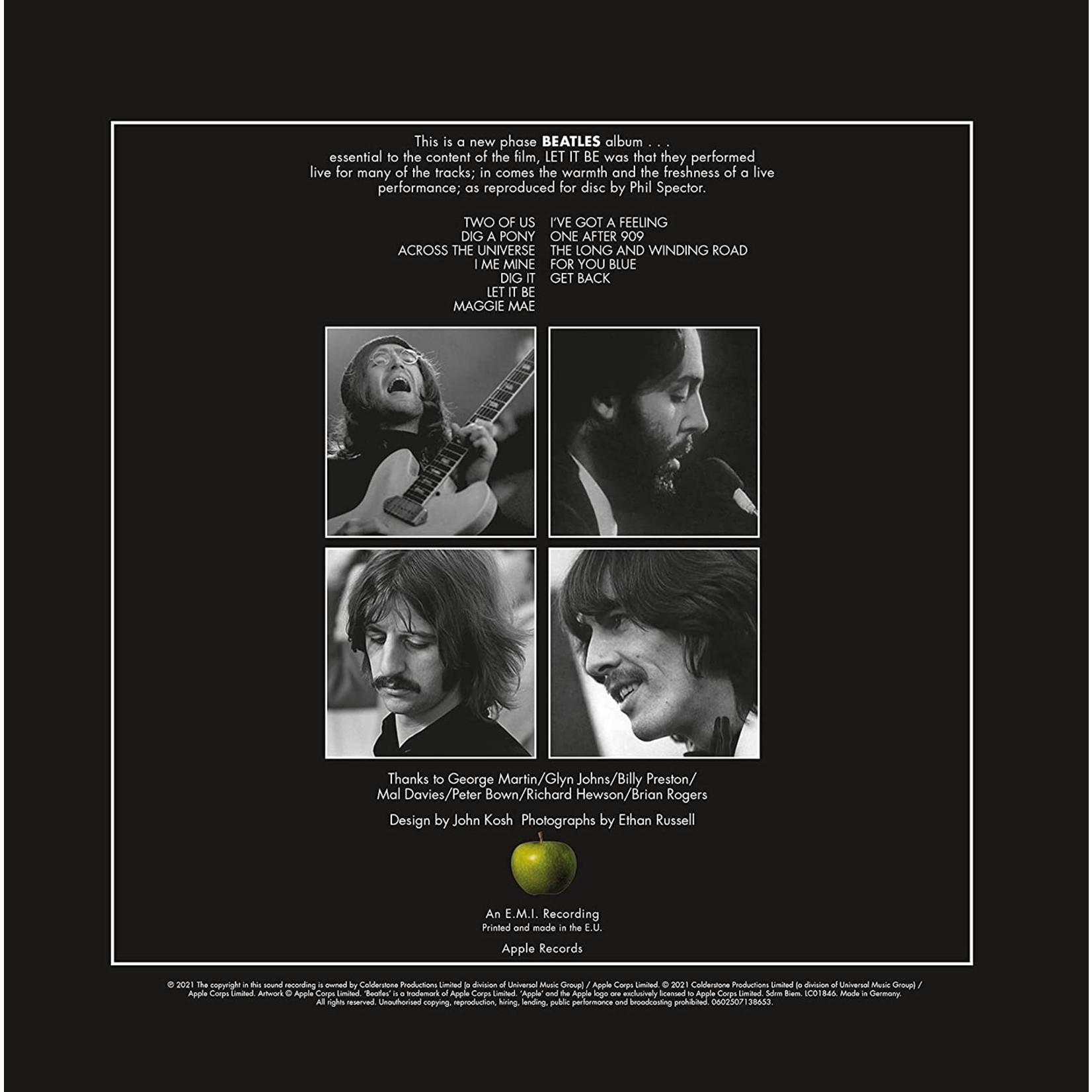 Vinyl The Beatles - Let it Be  [Special Edition 50th Anniversary Remaster).  Pre-Order