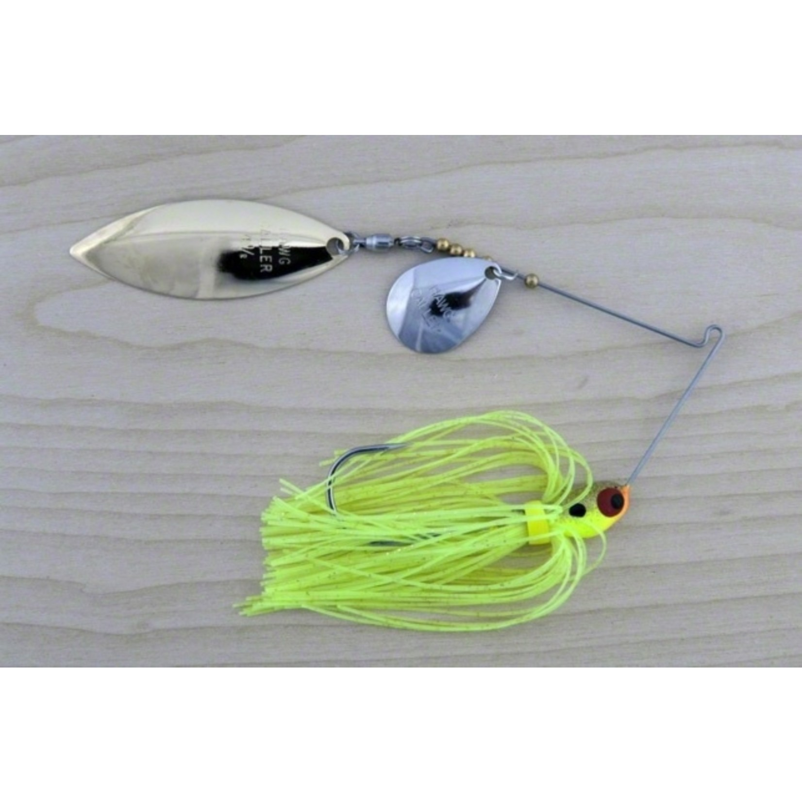 Double Blade Spinnerbait, 3/8 oz Lunker Lure PW4038 Proven Winner