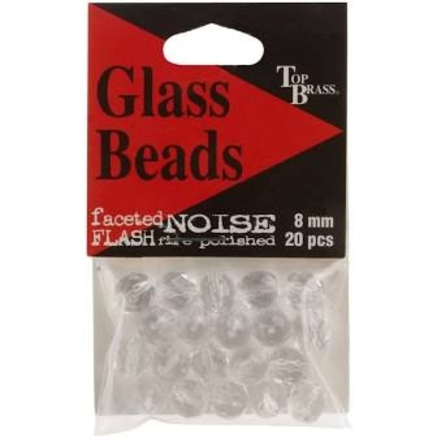 6mm Glass Beads Clear 20pk