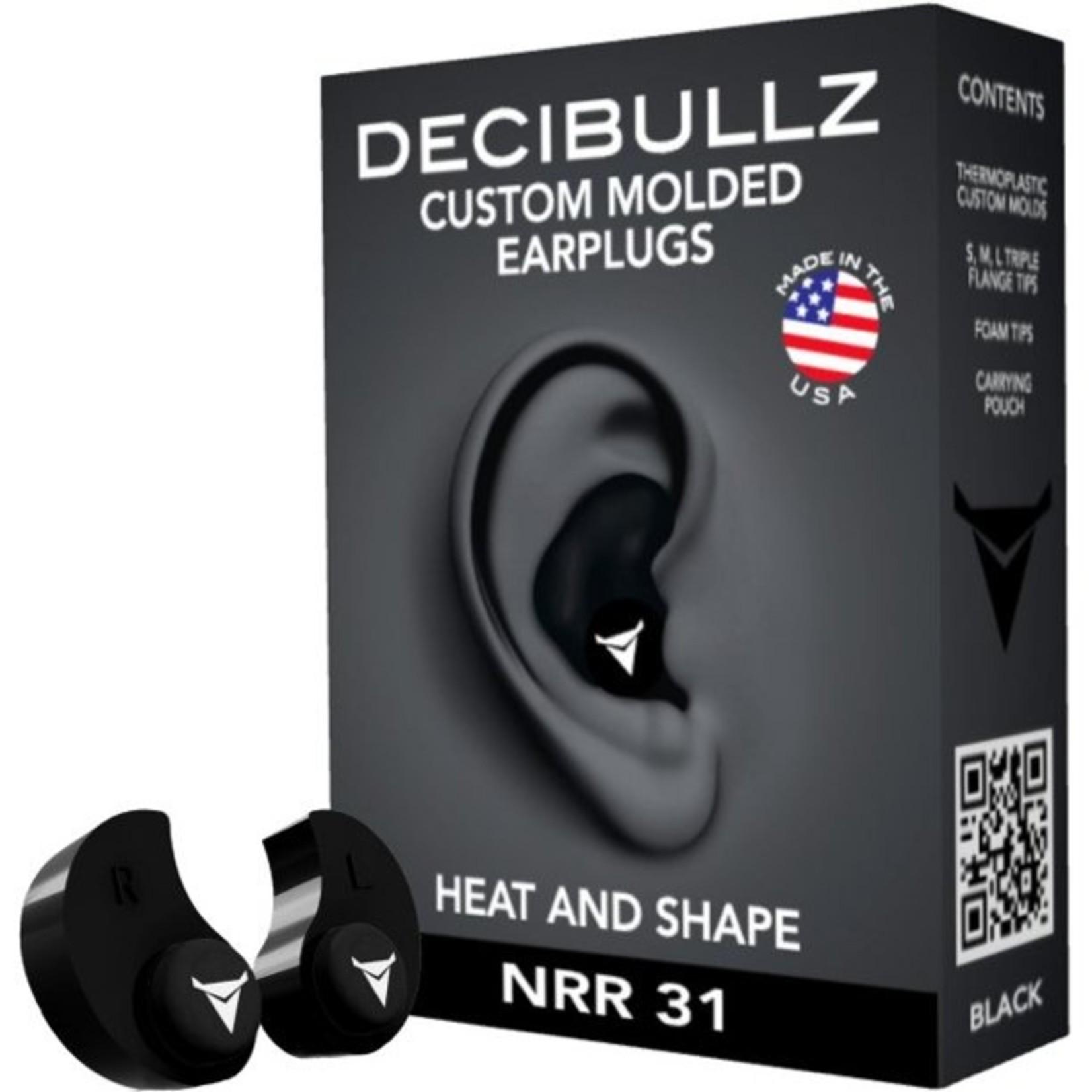 CUSTOM MOLDED EAR PLUGS PLG1-BLK