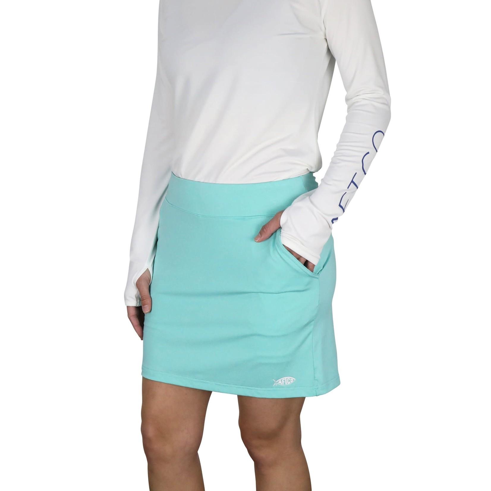 AFTCO WOMEN'S FANTAIL SKORT - Mint Heather