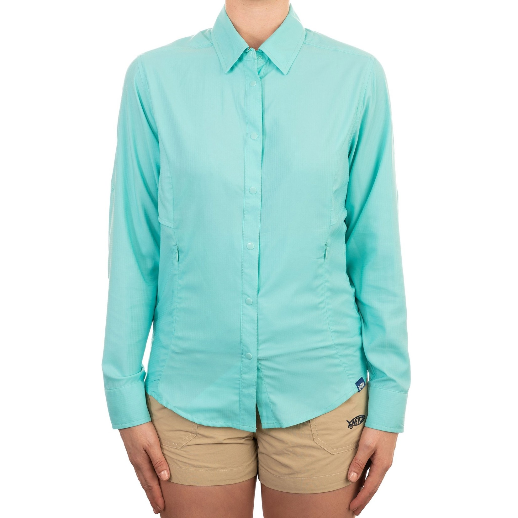 AFTCO WOMEN'S WRANGLE LS TECHNICAL FISHING SHIRT