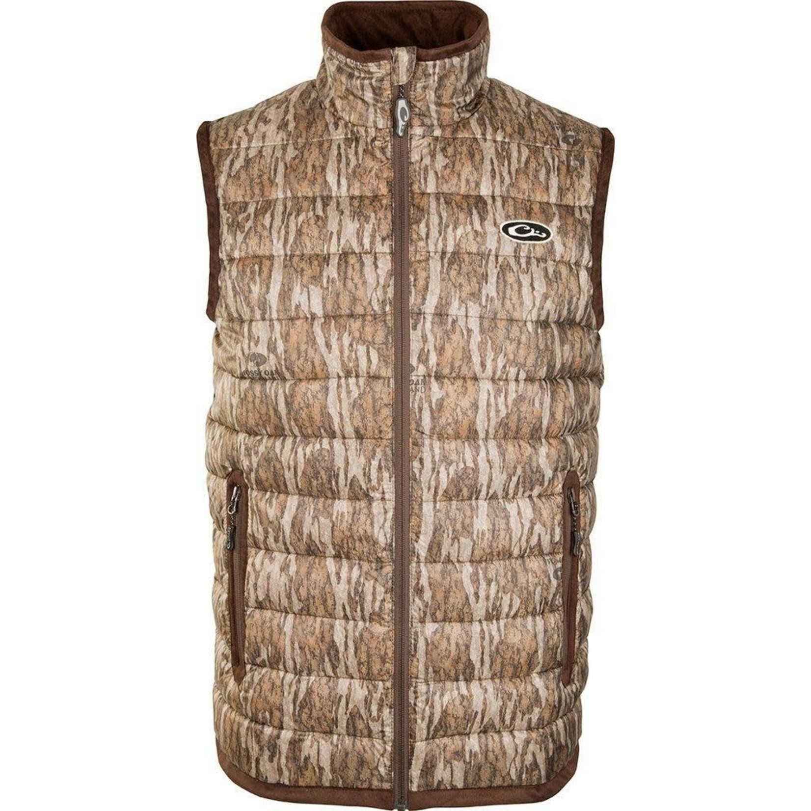 Drake Men's LST Camo Double Down Layering Vests