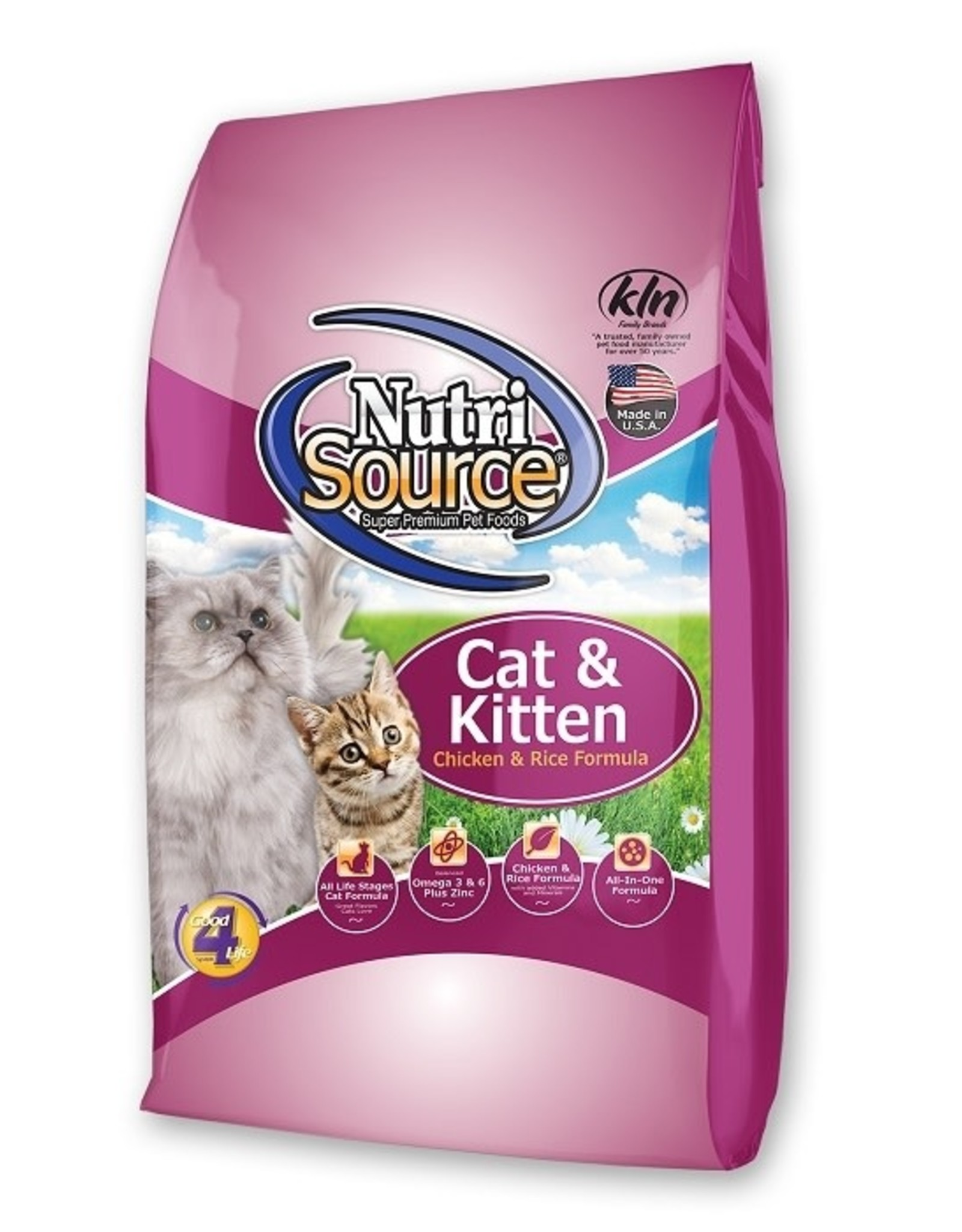 NUTRISOURCE NURTISOURCE CAT & Kitten Chicken & Rice 6.6 lb