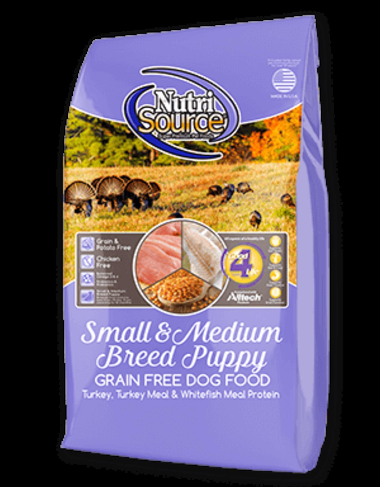NUTRISOURCE NUTRISOURCE - GF Sm & Med Breed Puppy Turkey & Whitefish