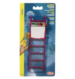 Living World Plastic Ladder w/Mirror & Beads