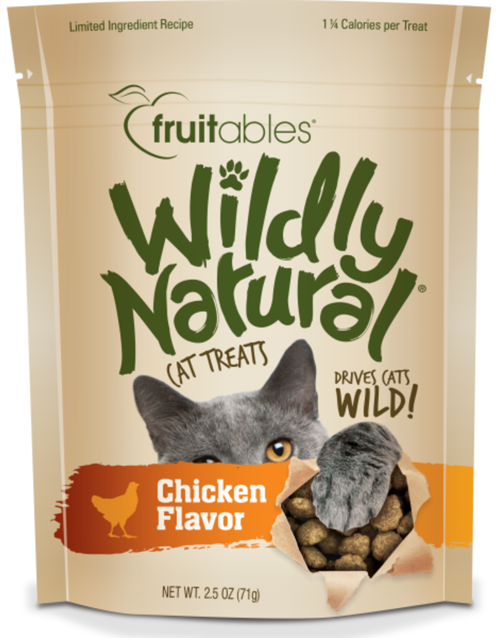Fruitables FRUITABLES CAT WILD NATURAL CHICKEN 2.5OZ