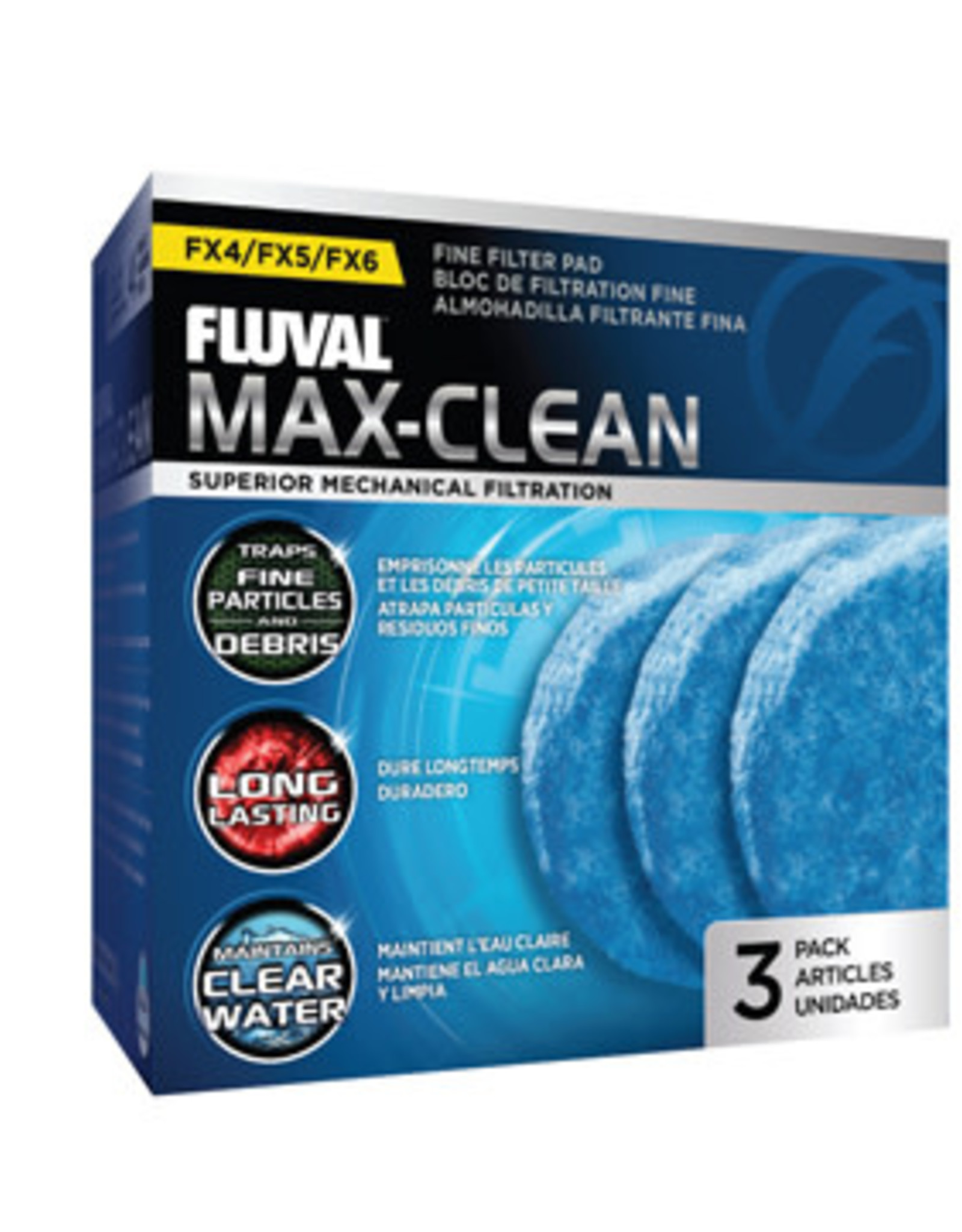 Fluval Max-Clean Fine Filter Pads - 3 pack