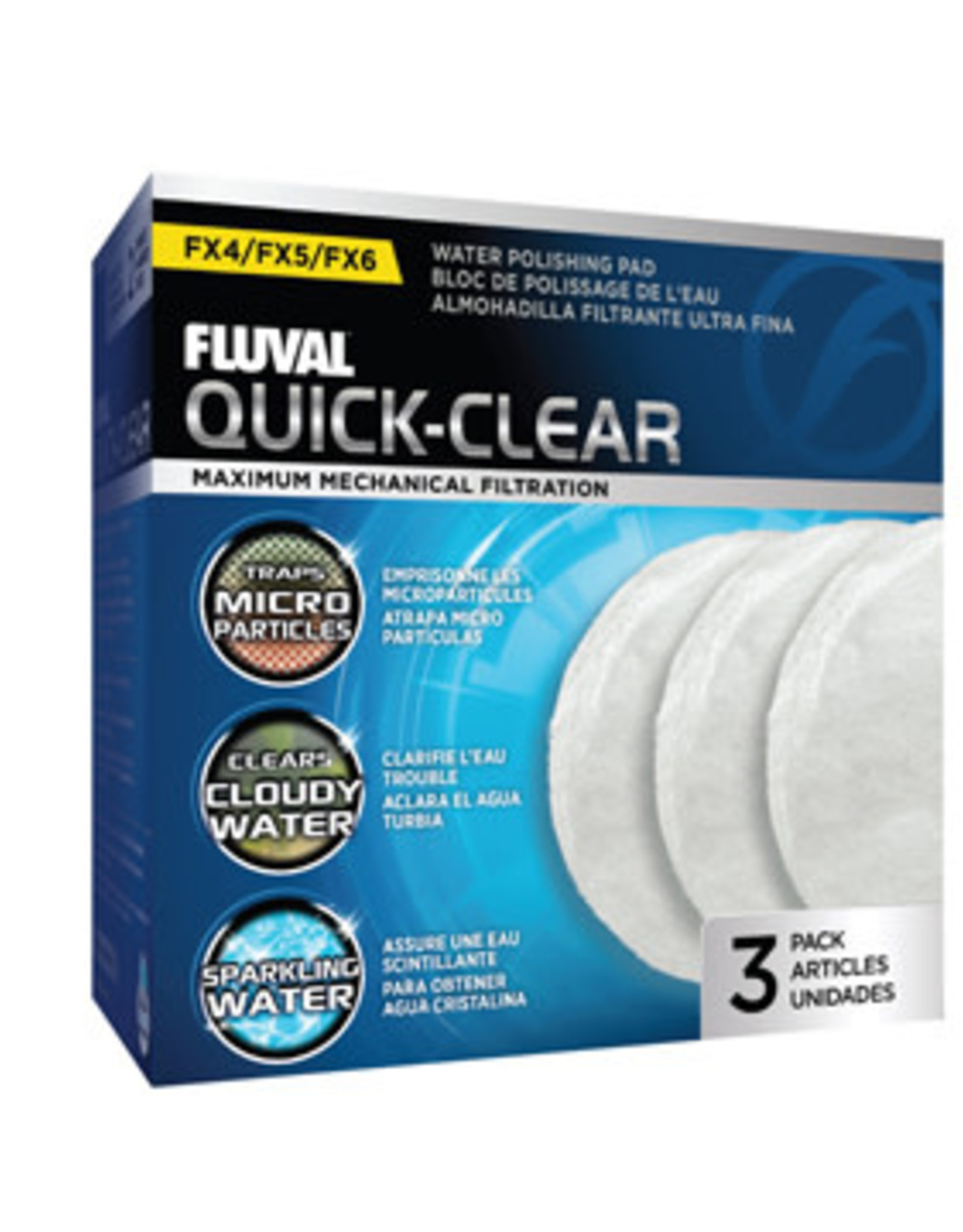Fluval Quick Clear Water Polishing Pads - 3 pack