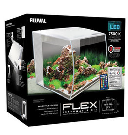 Fluval Fluval Flex Aquarium Kit - 57 L (15 US gal) - White