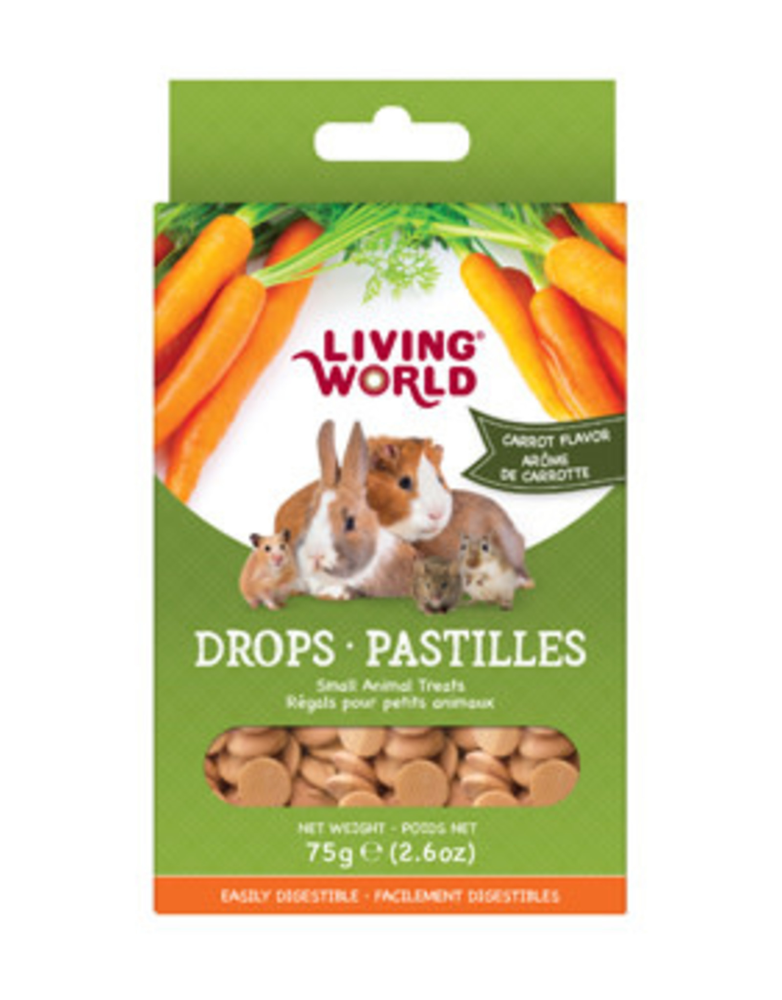 LIVING WORLD Living World Small Animal Drops - Carrot Flavour - 75 g (2.6 oz)