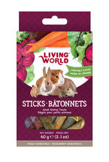 LIVING WORLD Living World Small Animal Sticks - Vegetable Flavour - 60 g (2.1 oz)