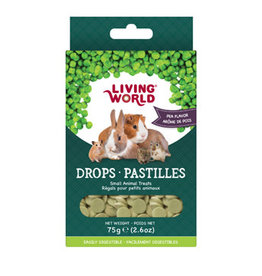 LIVING WORLD Living World Small Animal Drops - Pea Flavour - 75 g (2.6 oz)