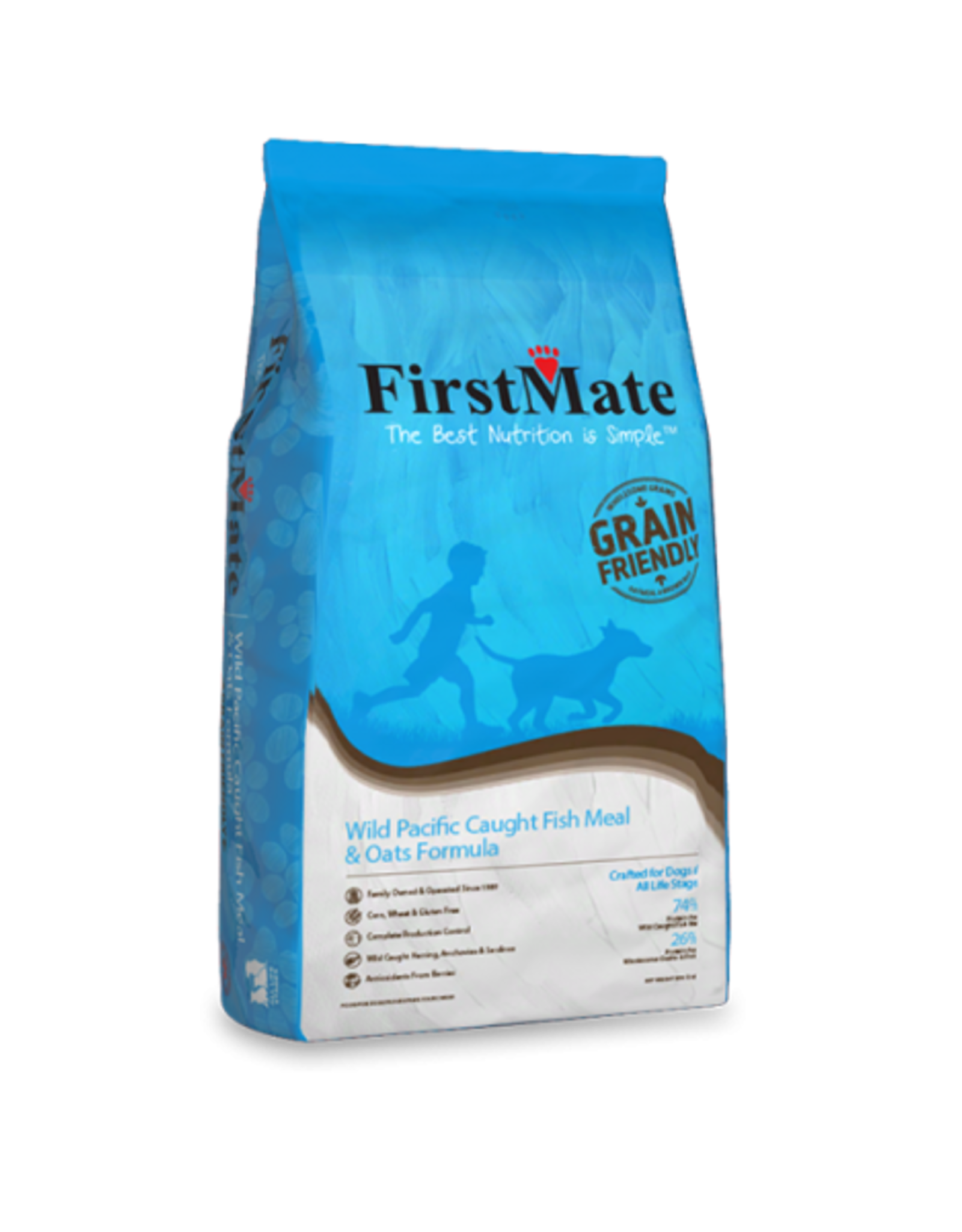 First Mate FirstMate Dog GFriendly Wild Pacific Caught Fish&Oats 25 lb