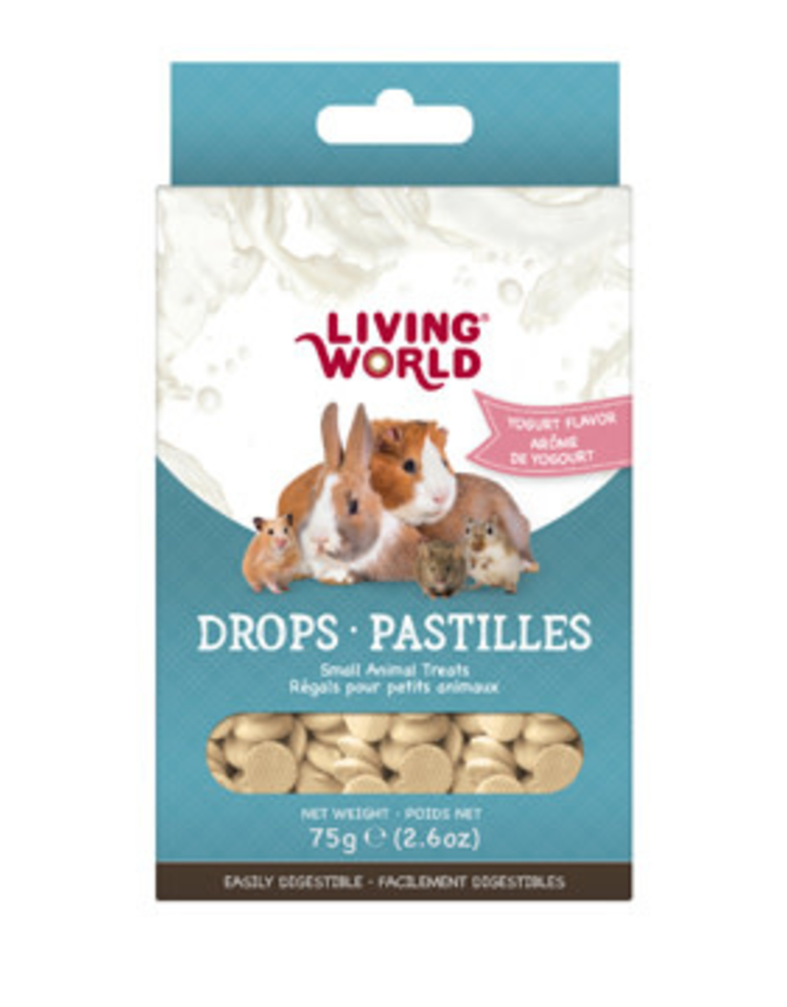 LIVING WORLD Living World Small Animal Drops - Yogurt Flavour - 75 g (2.6 oz)