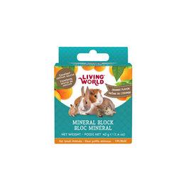 LIVING WORLD Living World Small Animal Mineral Blocks - Orange Flavour - Small - 40 g (1.4 oz)