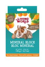 LIVING WORLD Living World Small Animal Mineral Blocks - Orange Flavour - Large - 190 g (6.7 oz)
