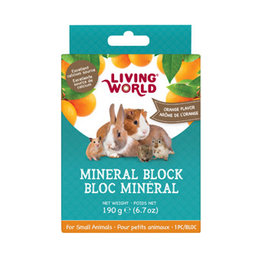 LIVING WORLD Living World Small Animal Mineral Blocks - Orange Flavour - Large - 190 g (6.7 oz)