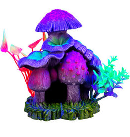 MARINA Marina iGlo Ornament - Mushroom House with Plants - Large - 13 cm (5.25 in)