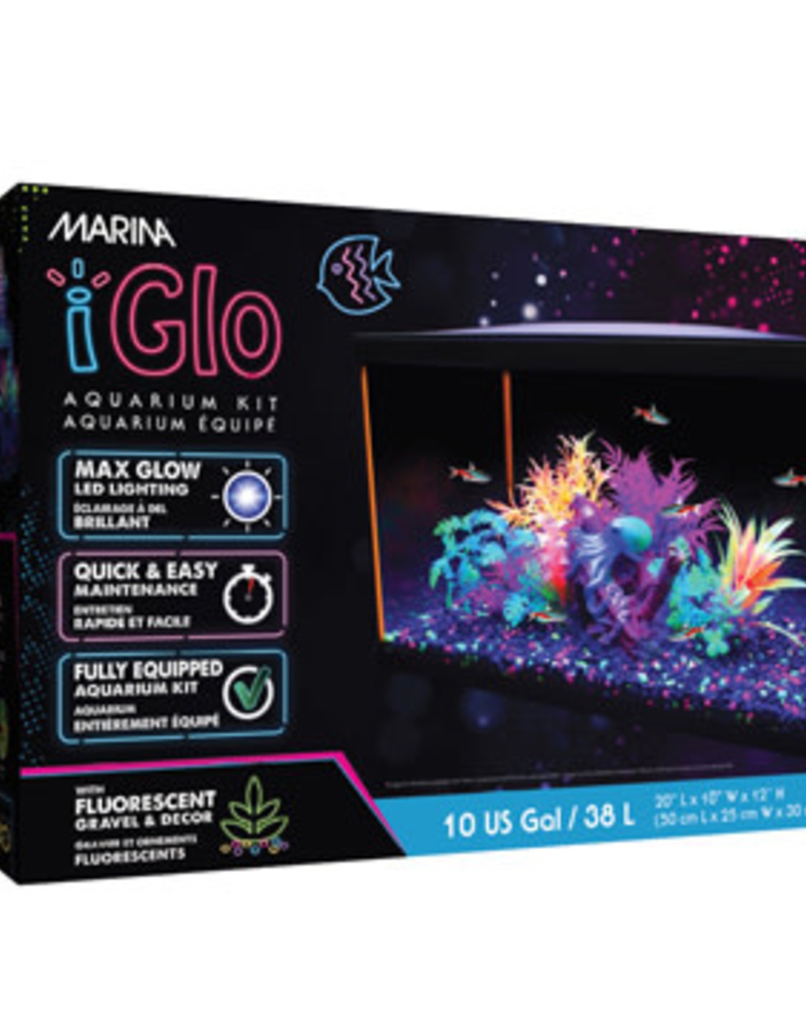 MARINA Marina iGlo Aquarium Kit - 38 L (10 US gal)